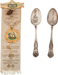 Louisiana Purchase Exposition: Spoons and Ornate Badge