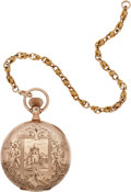 Antiques:Clocks & Watches, Gold Ladies' Pocket Watch from a San Francisco Jeweler. ...