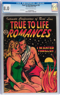 True-To-Life Romances #22 (Star Publications, 1954) CGC VF 8.0 Cream to off-white pages