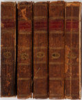 Books:Reference & Bibliography, The Spectator. David Niven, 1791. Volumes two, three, six,seven, and eight of an eight volume set. Front boards of two ...(Total: 5 Items)