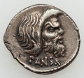 Ancients:Roman Republic, Ancients: C. Vibius C.f. Cn. Pansa Caetronianus (48 BC). ARdenarius (4.06 gm)....