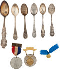 General Historic Events:World Fairs, World's Columbian Exposition: Nine Souvenirs.... (Total: 9 Items)