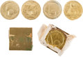 General Historic Events:World Fairs, World's Fair of 1939: Gold Foil Chocolate Coins. ... (Total: 5Items)