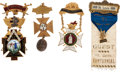 Miscellaneous:Ephemera, Fraternal Badges: Four Enamel Examples for the Knights Templar. ...(Total: 4 Items)