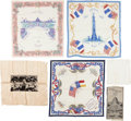 General Historic Events:World Fairs, St. Louis World's Fair of 1904: Six Textile Souvenirs. ... (Total:6 Items)