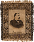 Political:Textile Display (pre-1896), Grover Cleveland: A Rare Woven Table-top Tapestry. ...