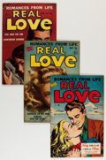 Golden Age (1938-1955):Romance, Real Love Group (Ace Periodicals, 1950-56) Condition: AverageVF+.... (Total: 6 Comic Books)