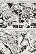 Original Comic Art:Panel Pages, Jack Kirby and Joe Sinnott Fantastic Four #62 Cosmic Tritonin the Negative Zone Page 16 Original Art (Marvel, 196...