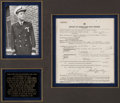 Autographs:U.S. Presidents, John F. Kennedy: World War Two Signed Navy Report....