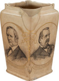 Political:3D & Other Display (pre-1896), Blaine & Logan and Cleveland & Hendricks: Double JugatePitcher....