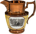 Political:3D & Other Display (pre-1896), Andrew Jackson: Large Copper Luster Pitcher....