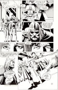 Original Comic Art:Panel Pages, Brian Bolland and Terry Austin Camelot 3000 #7 King ArthurBanishes Lancelot and Queen Guinevere from New Came...
