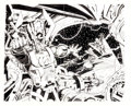 Original Comic Art:Covers, Kerry Gammill and Bob Layton The Official Marvel Index to theFantastic Four #5 Wraparound Cover Original Art (Mar...