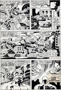 Original Comic Art:Panel Pages, Jack Kirby and John Verpoorten Captain America #205 Page 16Original Art (Marvel, 1977)....