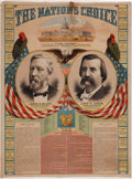 Political:Miscellaneous Political, Blaine & Logan: The Mate to the Colorful Cleveland &Hendricks Version Also Offered Here. ...