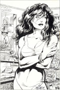 Original Comic Art:Splash Pages, John Byrne and Kim DeMulder Marvel Graphic Novel #18 TheSensational She-Hulk Splash Page 4 Original Art (Marvel, ...