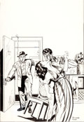 Original Comic Art:Covers, Myron Fass Unpublished Pre-Code Romance Cover Original Art (c.1950s)....