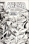 Original Comic Art:Covers, Paul Neary and Joe Rubinstein Sr. Ka-Zar the Savage #32Cover Original Art (Marvel, 1984).. ...