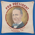Political:3D & Other Display (1896-present), Herbert Hoover and Al Smith: Hand-Painted Banners....