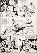 Original Comic Art:Panel Pages, Russ Manning, Paul Norris, and Mike Royer Magnus RobotFighter #28 Page 4 Original Art (Gold Key, 1969)....