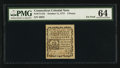 Colonial Notes:Connecticut, Connecticut October 11, 1777 3d PMG Choice Uncirculated 64.. ...