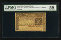 New York March 5, 1776 $1/2 PMG Choice About Uncirculated 58
