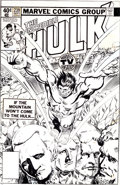 Original Comic Art:Covers, Al Milgrom The Incredible Hulk #239 Mount Rushmore Cover Original Art (Marvel, 1979)....