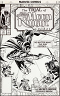 Original Comic Art:Covers, John Romita Sr., Sal Velluto, and Tom Palmer Marc Spector MoonKnight #17 Cover Original Art (Marvel, 1989)....
