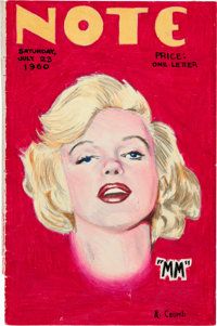 Robert Crumb Note Marilyn Monroe Cover and Letter Original Art Group (1960).... (Total: 2 Items)