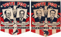 Political:Textile Display (1896-present), Stevenson & Sparkman and Eisenhower & Nixon: Two TerrificLarge, Colorful 1952 Cloth Campaign Banners.... (Total: 2 Items)