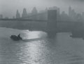 Photographs:20th Century, CONSUELO KANAGA (American, 1894-1978). Tug and Barge, EastRiver, circa 1922. Gelatin silver, printed later. 2-3/4 x3-7...
