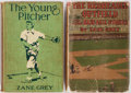 Books:Fiction, Zane Grey. Lot of Two Baseball Stories. Including: The RedheadedOutfield and Other Baseball Stories. Grosset & ... (Total:2 Items)