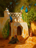 Fine Art - Painting, American:Other , MARCUS WATERMAN (American, 1834-1914). Mosque de Sidi AbdelRahman. Oil on canvas. 16 x 12 inches (40.6 x 30.5 cm). Sign...