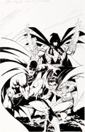 Original Comic Art:Covers, Tom Grummett Wizard #46 Batman/Azrael/Robin Cover OriginalArt (Wizard, 1995)....