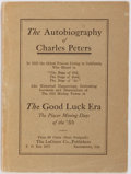 Books:Americana & American History, [Gold Rush]. The Autobiography of Charles Peters. TheLaGrave Co., Publishers, [n.d., circa 1915]. First edition...