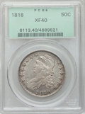 Bust Half Dollars: , 1818 50C XF40 PCGS. PCGS Population (95/497). NGC Census: (54/621).Mintage: 1,960,322. Numismedia Wsl. Price for problem f...