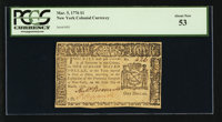New York March 5, 1776 $1 PCGS About New 53