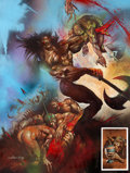 "Original Comic Art:Splash Pages, Simon Bisley 2000 AD Program #627 ""Slaine: The Horned GodBook I"" Splash Page Original Art (Robert Maxwell, 1989)...."