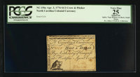 North Carolina April 2, 1776 $1/2 Crow and Pitcher PCGS Apparent Very Fine 25