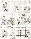 "Original Comic Art:Panel Pages, Don Martin MAD #139 ""One Day at a Construction Site"" PageOriginal Art (EC, 1970)...."