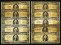 Large Size:Gold Certificates, Fr. 1187 $20 1922 Gold Certificates Thirteen Examples. . ... (Total: 13 notes)