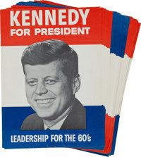John F. Kennedy: Dealer's Lot of 1960 Campaign Posters