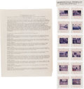 Political:Small Miscellaneous (1896-present), John F. Kennedy: Twelve Color Slides of the Dallas Assassination....