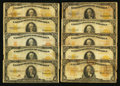 Large Size:Gold Certificates, $10 1907 and 1922 Gold Certificates Group Lot.. ... (Total: 30 notes)