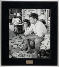 """Jackie and JFK: """"Adoration of a President to Be"""" Signed and Numbered Silver Gelatin Photo by Hy Peskin"""