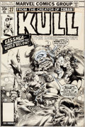 Original Comic Art:Covers, Ernie Chan and Rudy Nebres Kull the Destroyer #27 CoverOriginal Art (Marvel, 1978)....
