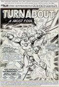 Original Comic Art:Splash Pages, Arvell Jones, Keith Pollard, and Jim Mooney Iron Man #73 Splash Page 1 Original Art (Marvel, 1975)....