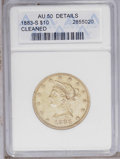 Liberty Eagles: , 1883-S $10 --Cleaned-- ANACS. AU50 Details. NGC Census: (14/72). PCGS Population (22/81). Mintage: 38,000. Numismedia Wsl. P...
