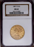 Liberty Eagles: , 1887-S $10 MS62 NGC. NGC Census: (331/44). PCGS Population (170/49). Mintage: 817,000. Numismedia Wsl. Price: $432. (#8711)...