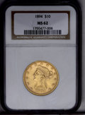 Liberty Eagles: , 1894 $10 MS62 NGC. NGC Census: (8890/3969). PCGS Population (5016/1213). Mintage: 2,470,778. Numismedia Wsl. Price: $485. (...